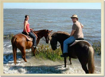 The beach is a great destination on a romantic trailride with a loved one